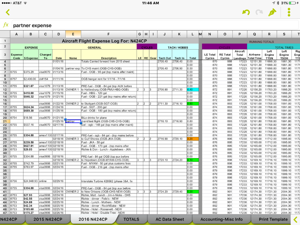 free aircraft maintenance tracking spreadsheet excel
