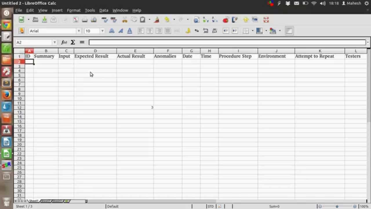 free download Software Testing Spreadsheet Template