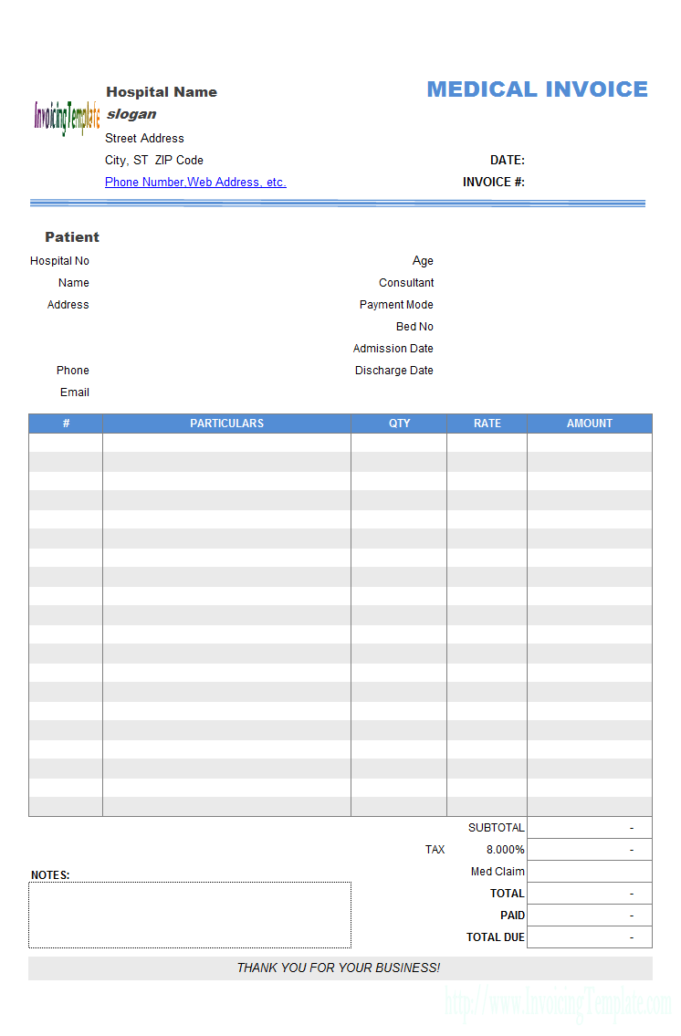 free download medical spreadsheet templates
