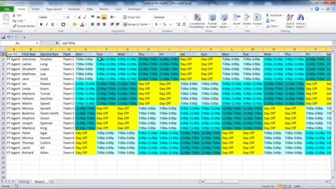 free employee shift scheduling spreadsheet templates
