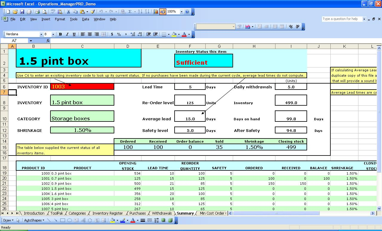 free excel spreadsheet for inventory management templates ...