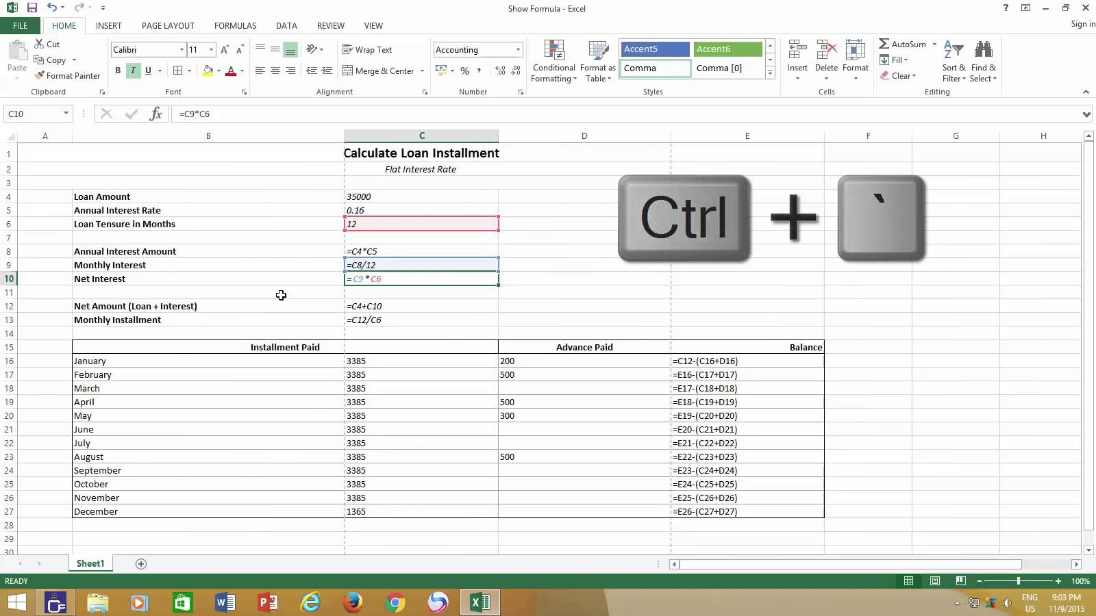 free formulas for excel spreadsheets