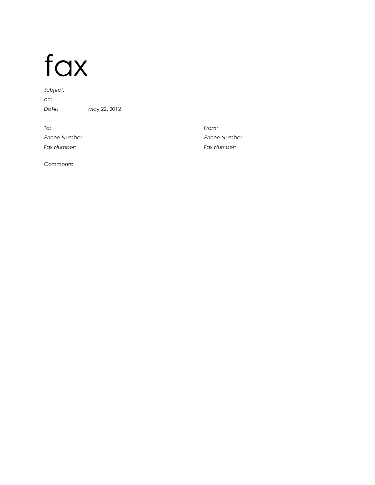 How To Make A Fax Cover Sheet In Word 2010 Kubreforic
