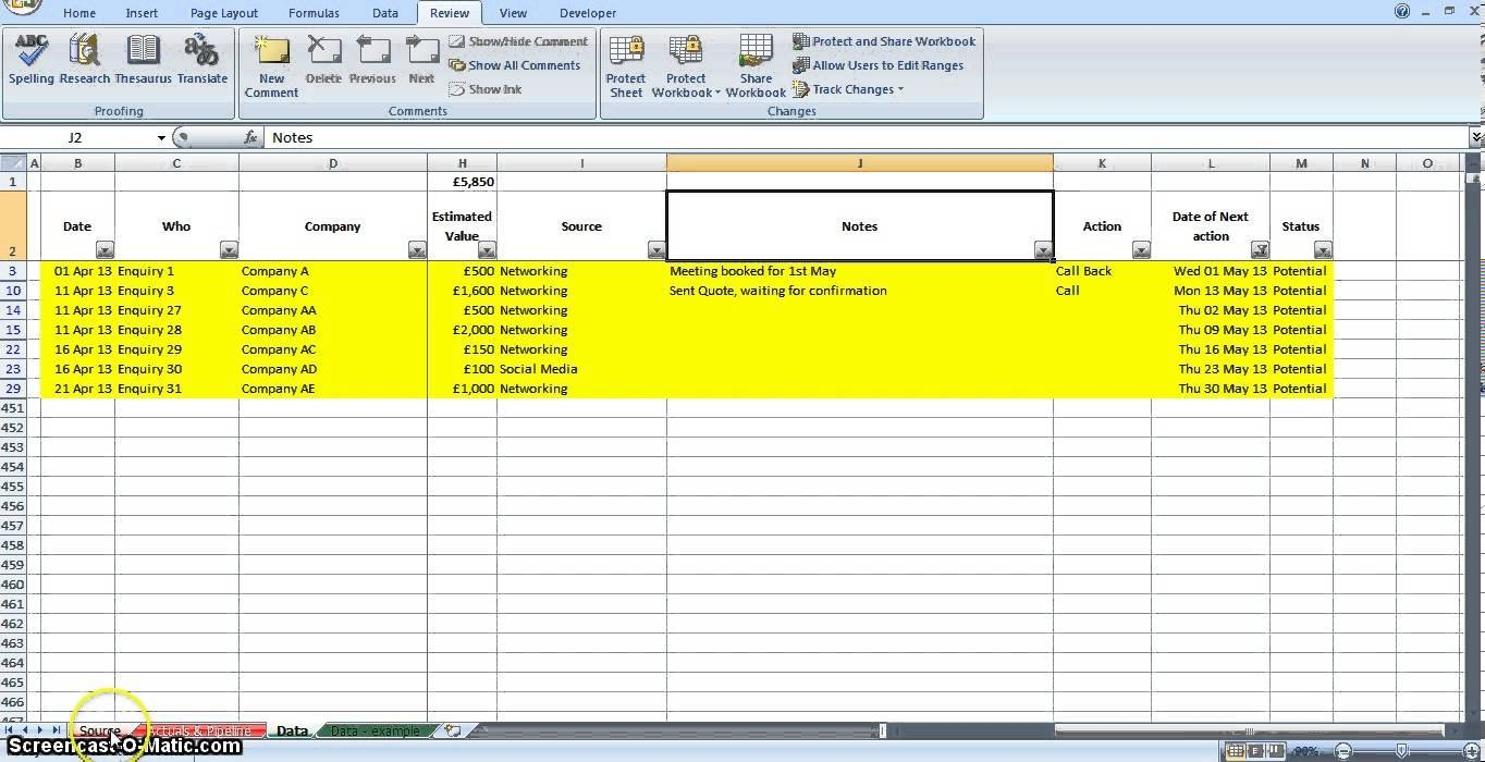 free lead tracking spreadsheet template download