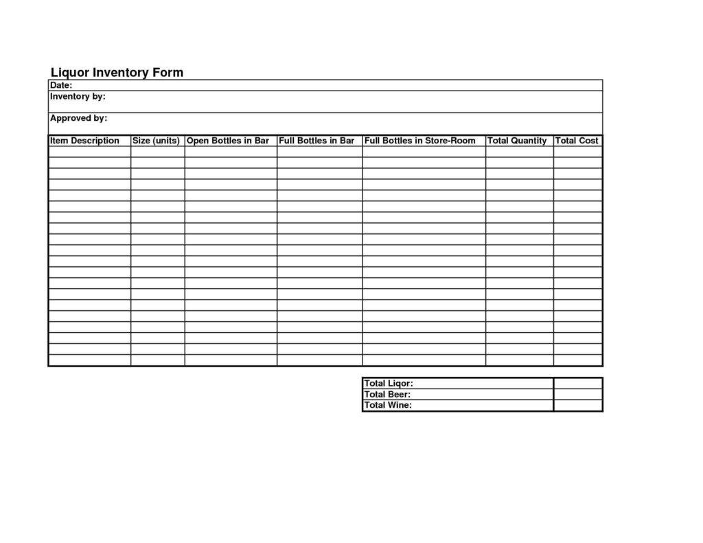 free liquor inventory spreadsheet excel templates download