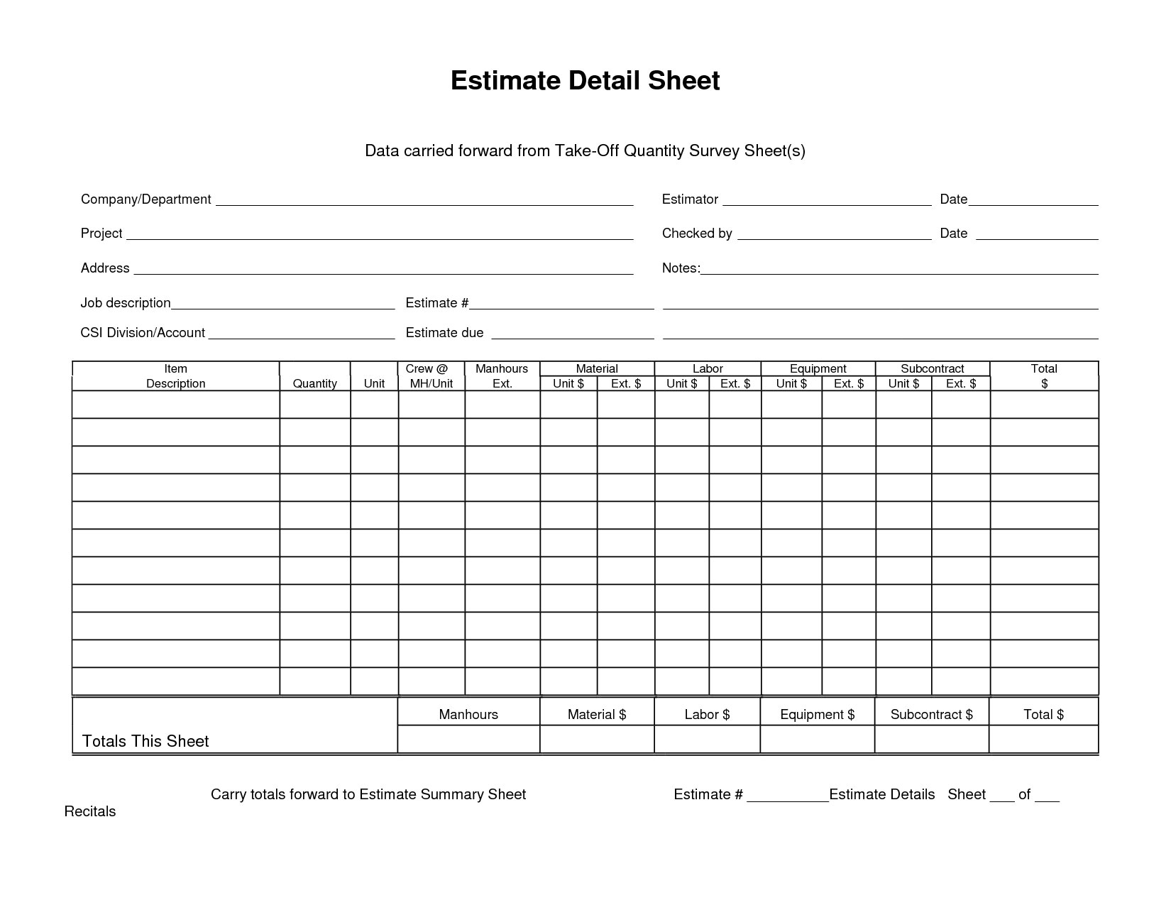 Free Material List For Building A House Spreadsheet Download  Construction Materials List Template