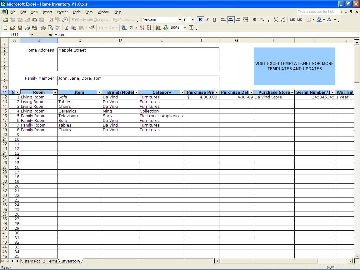 Free Office Supply Inventory Spreadsheet Excel  Office Inventory Spreadsheet