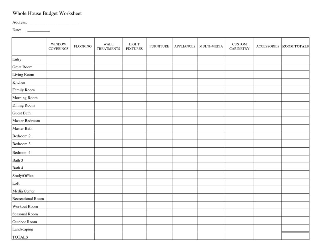 Worksheets Home Budget Worksheet Free free printable home budget spreadsheet laobingkaisuo com spreadsheet