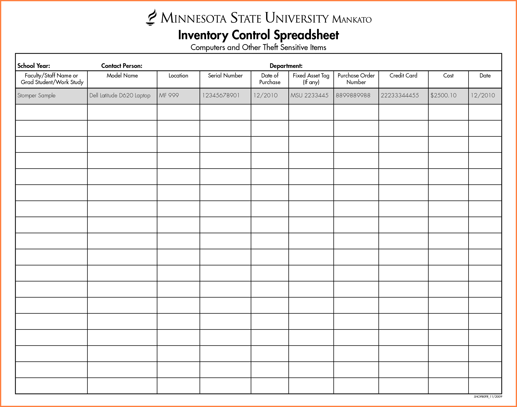 free sample liquor inventory spreadsheet