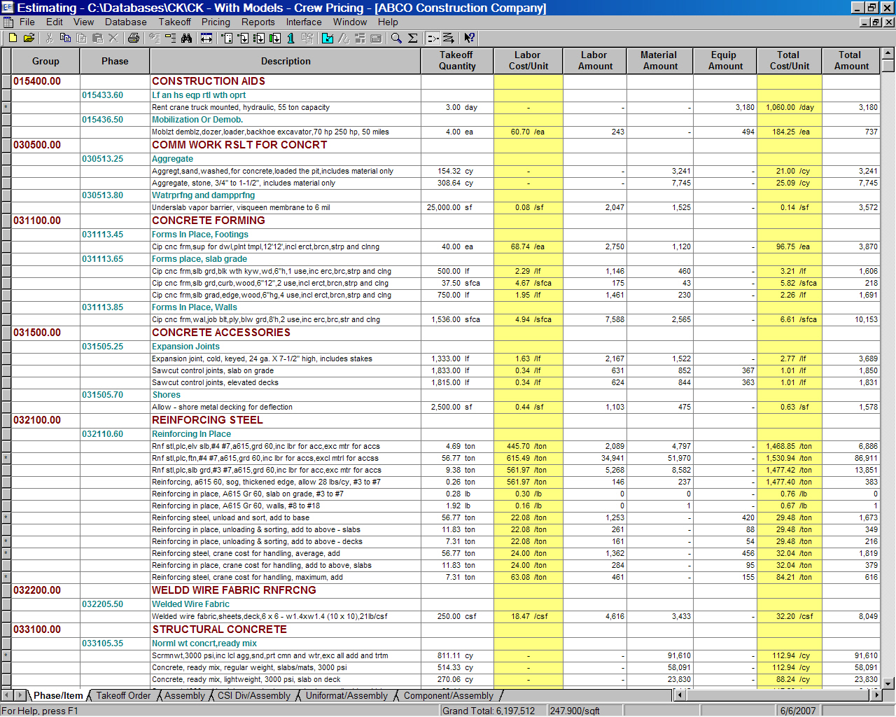 Construction Cost Estimating Spreadsheet | LAOBINGKAISUO.COM