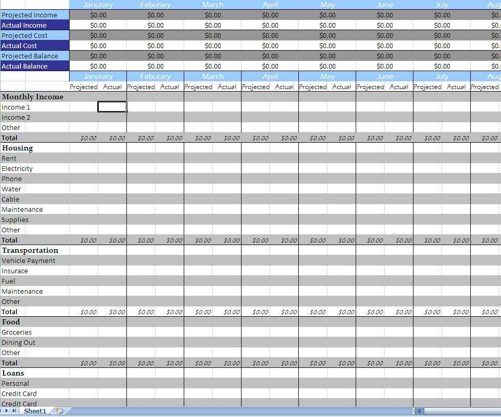 Daily Expenses Spreadsheet Excel Free