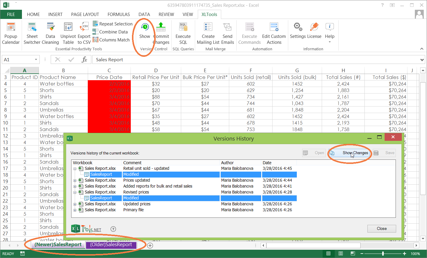 history of excel software