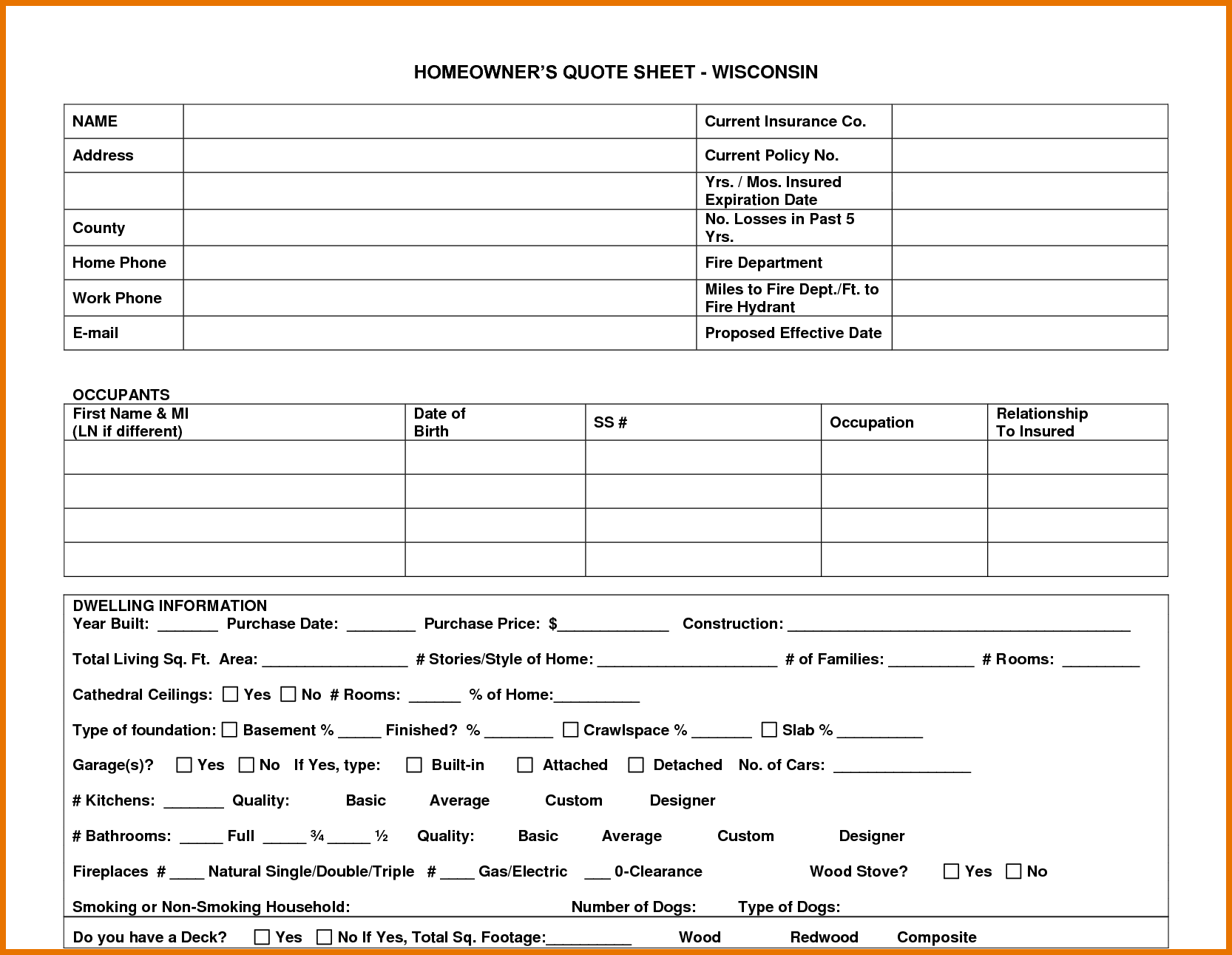 home insurance quote sheet template_11