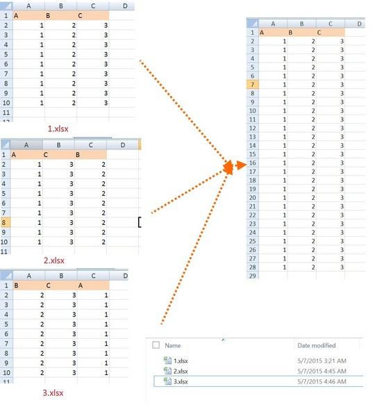 how to consolidate multiple excel files into one