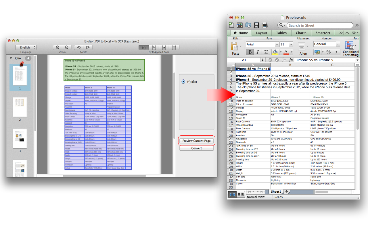 how to convert pdf file to excel spreadsheet