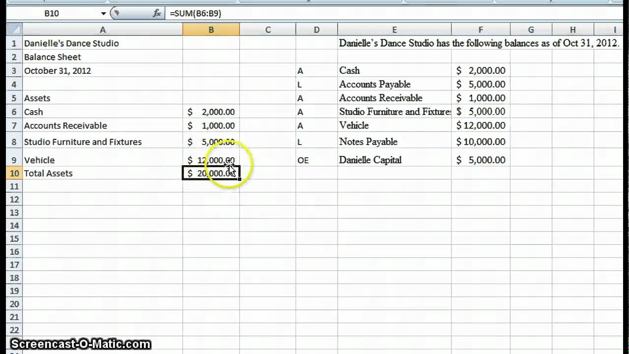 how to create excel spreadsheet