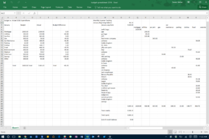 how to make a balance sheet on excel
