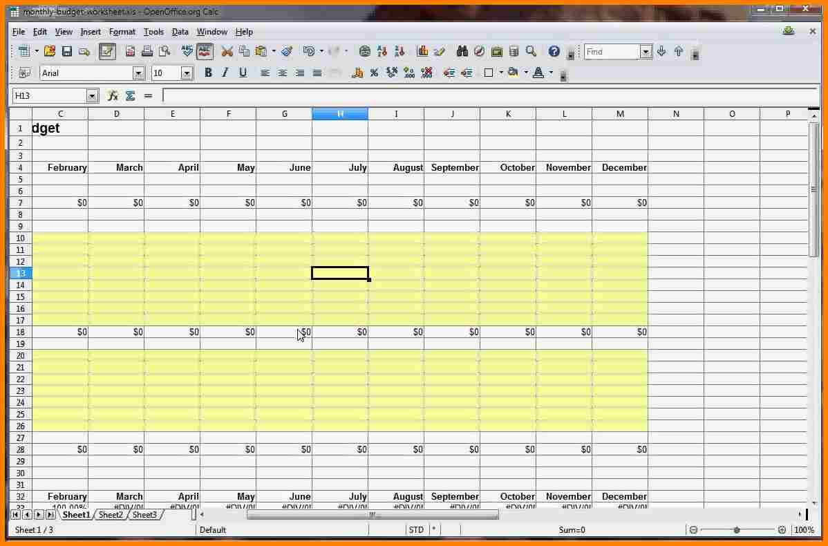 how to make a budget spreadsheet in openoffice