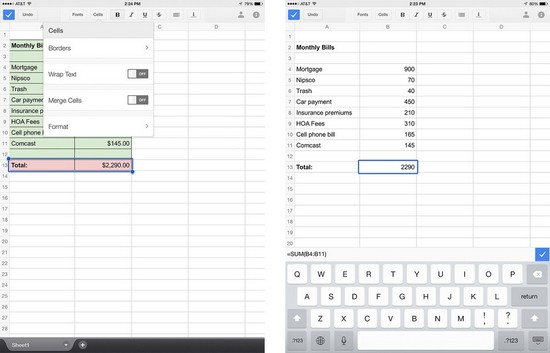 how to make a spreadsheet in google docs