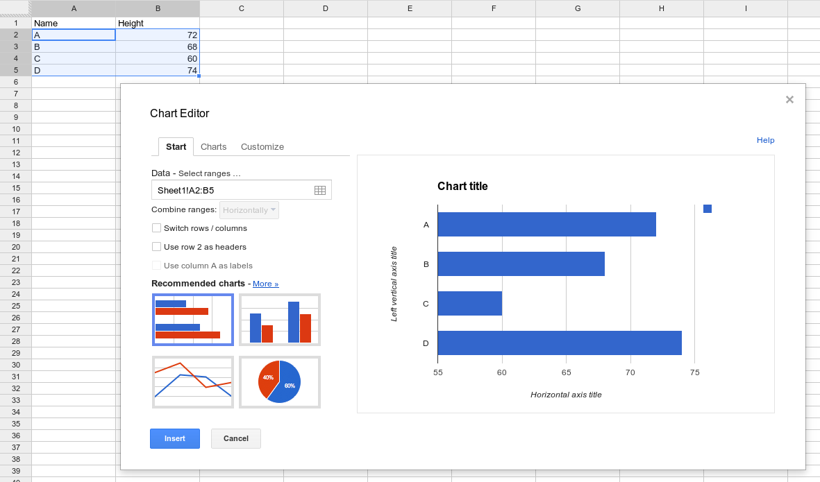 how to make an excel spreadsheet on google docs