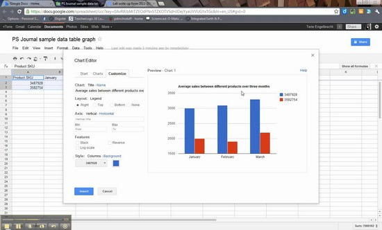 how to make excel sheet in google docs