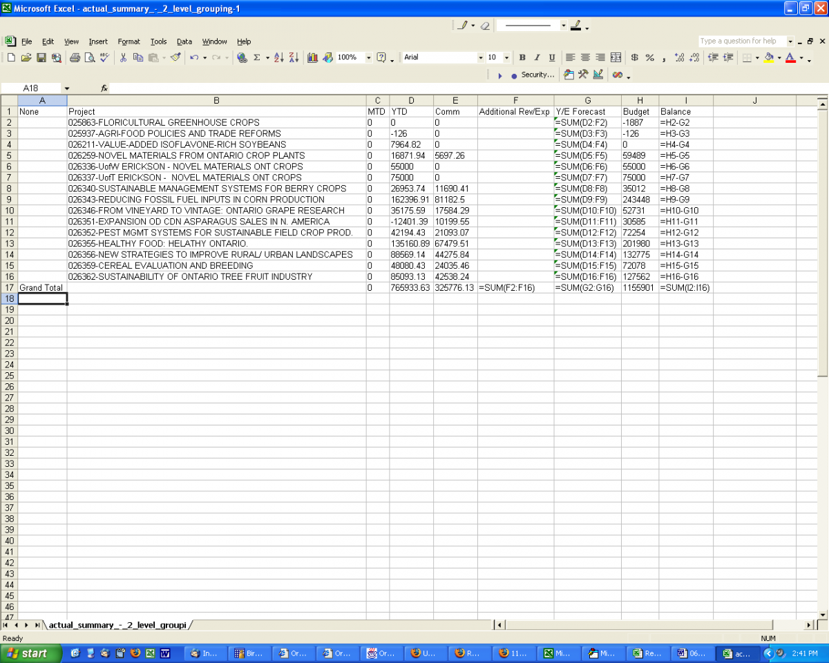how to setup a spreadsheet in excel 2007