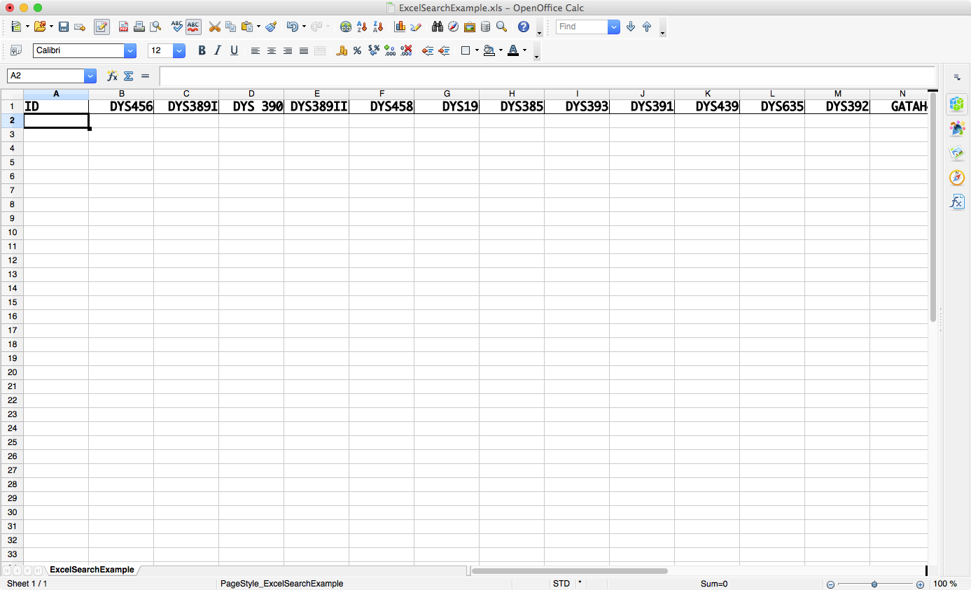 how to setup a spreadsheet using excel