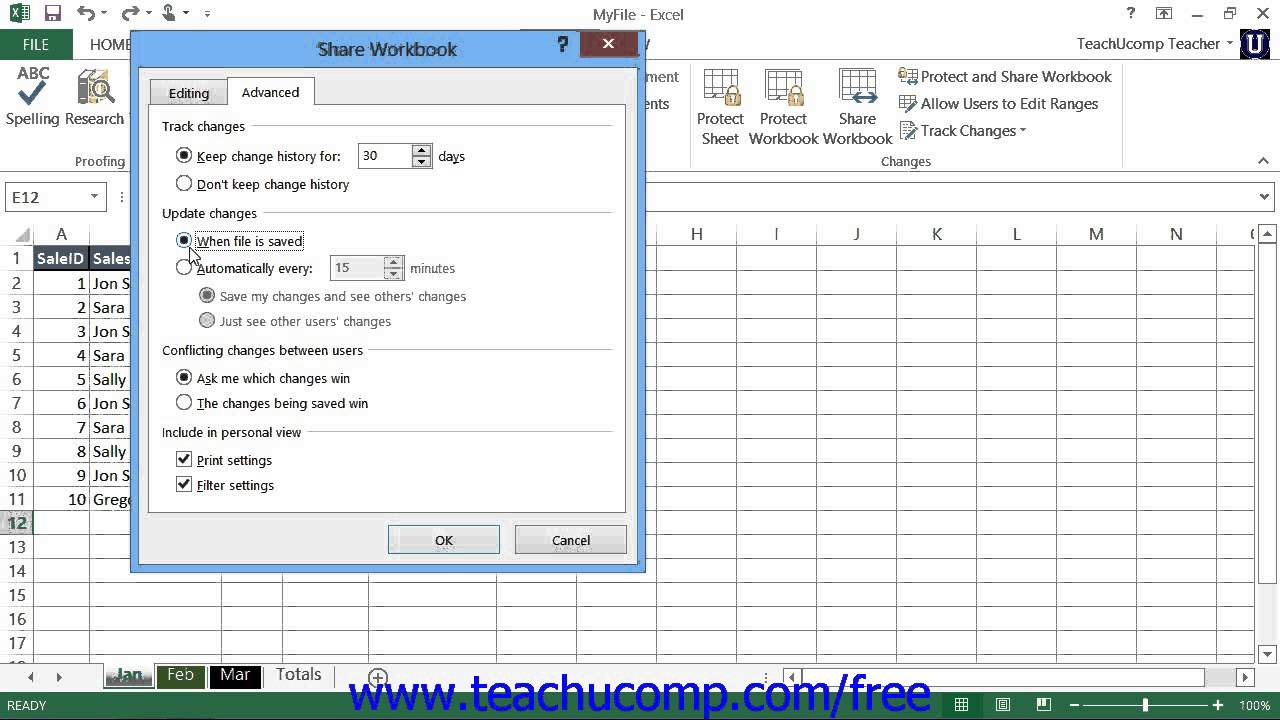 how to share an excel spreadsheet with multiple users