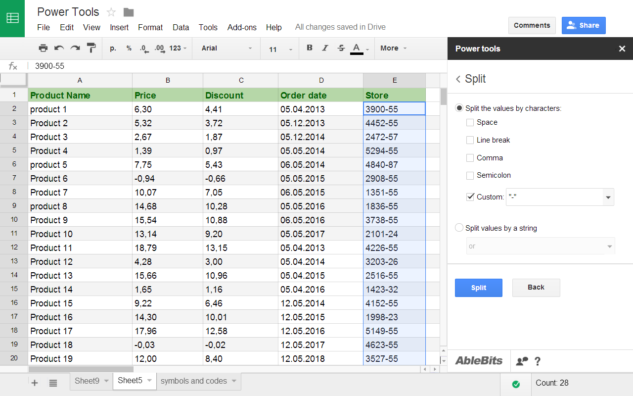 how to use google sheets app