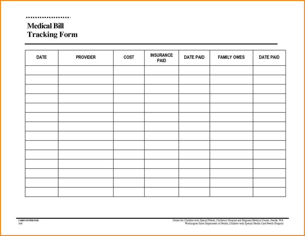 Monthly Bill Spreadsheet Template Free  Bills Template Free