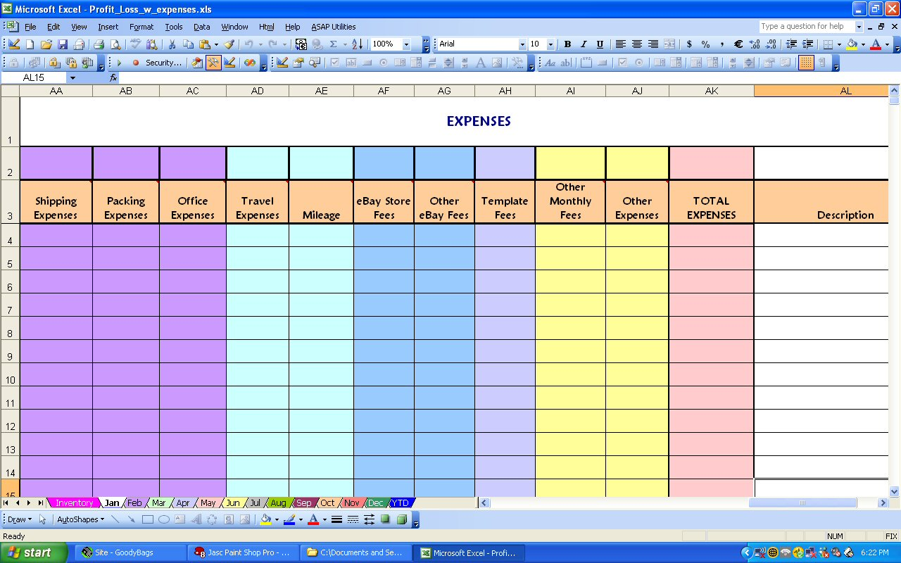 Monthly Expenditure Template download free microsoft word templates – Simple P and L Template