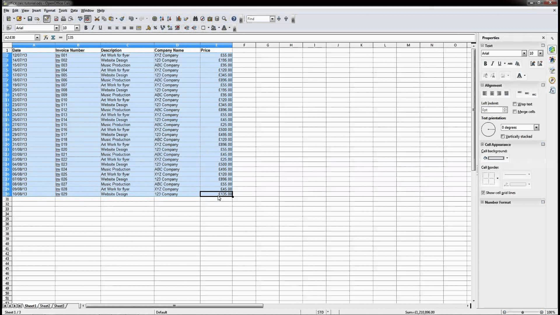 open office spreadsheet fit to page