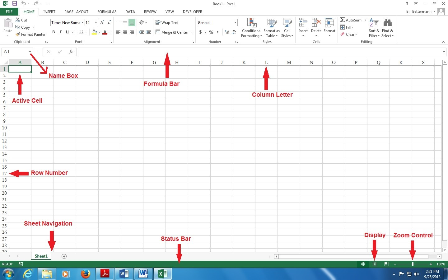parts of an excel spreadsheet free