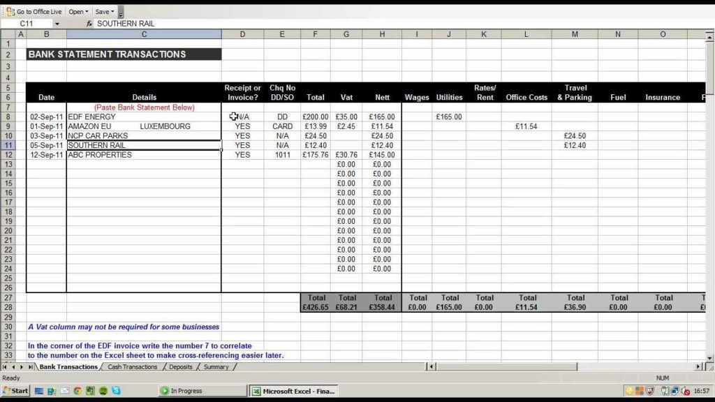 personal finance tracking