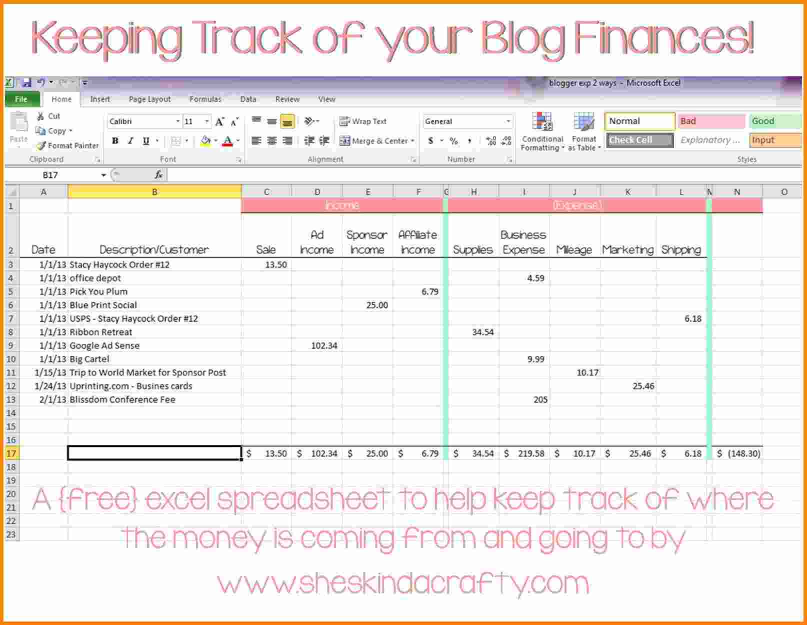 personal income and expenses spreadsheet templates