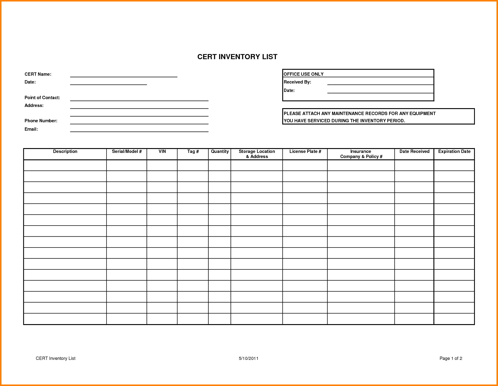 Sample Bar Inventory Spreadsheet  Inventory Sheets Printable