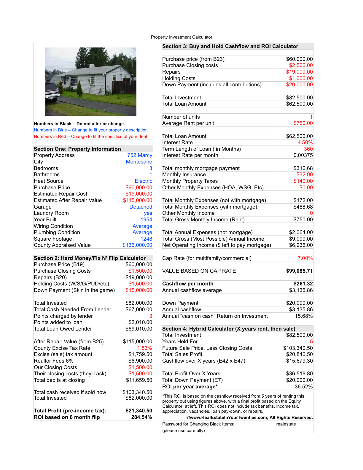 real estate math formulas pdf