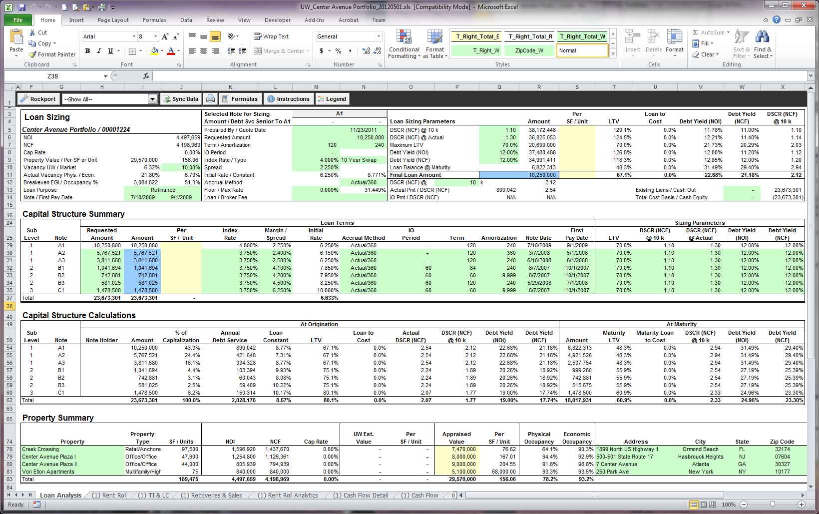 rental property accounting spreadsheet free