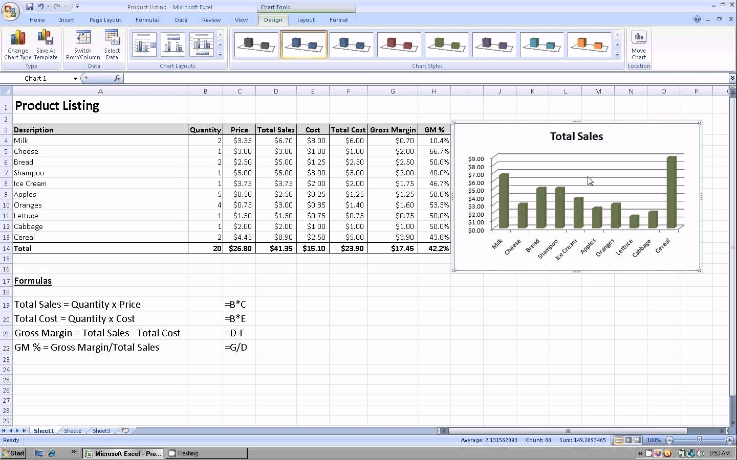 sample excel sheet with sales data
