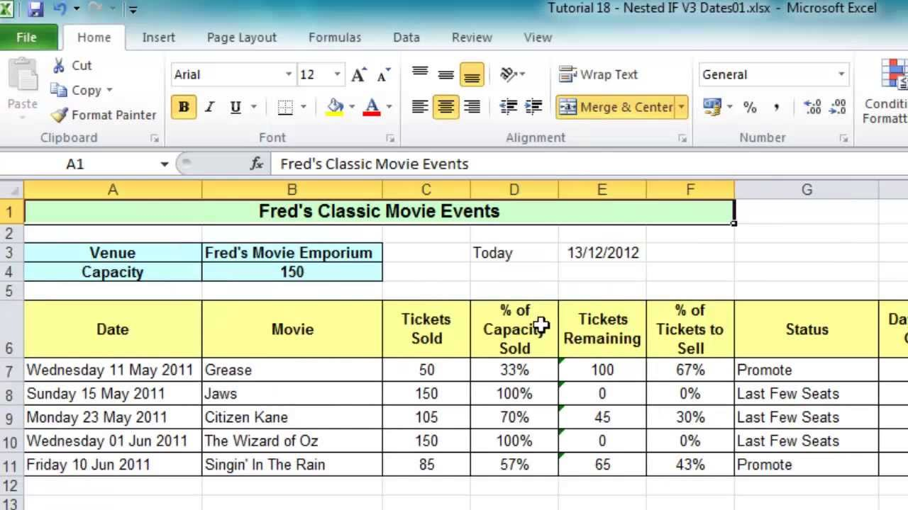 samples of excel spreadsheets