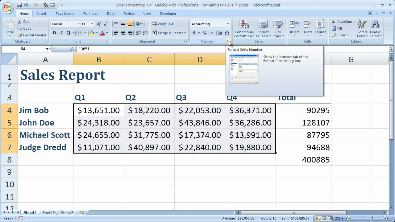 sample of spreadsheets in excel