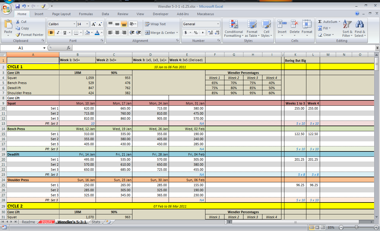 sample of spreadsheets in excel free