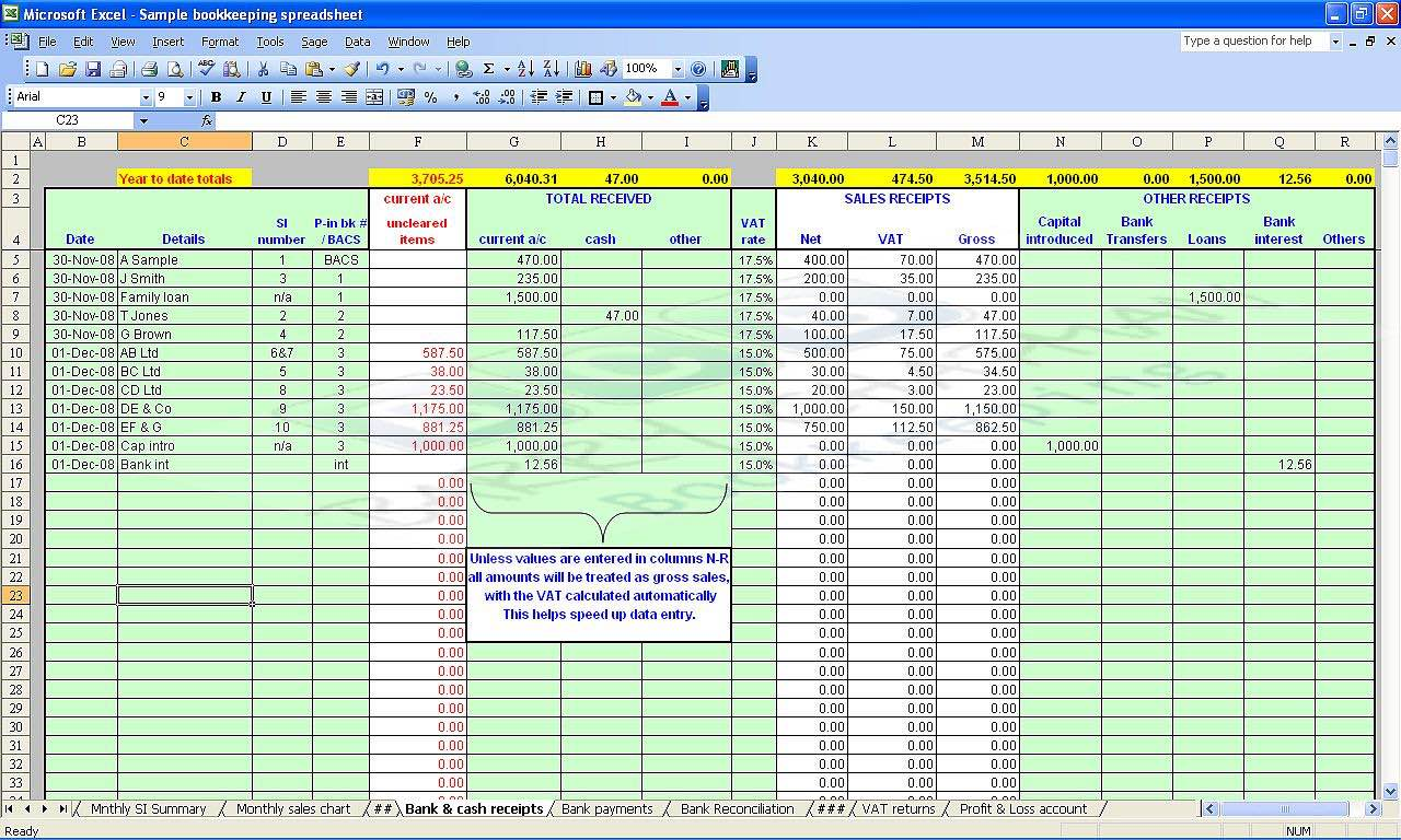 self employed expenses spreadsheet template free download
