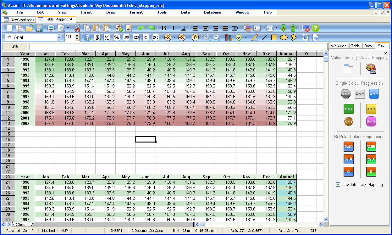 spreadsheet software examples