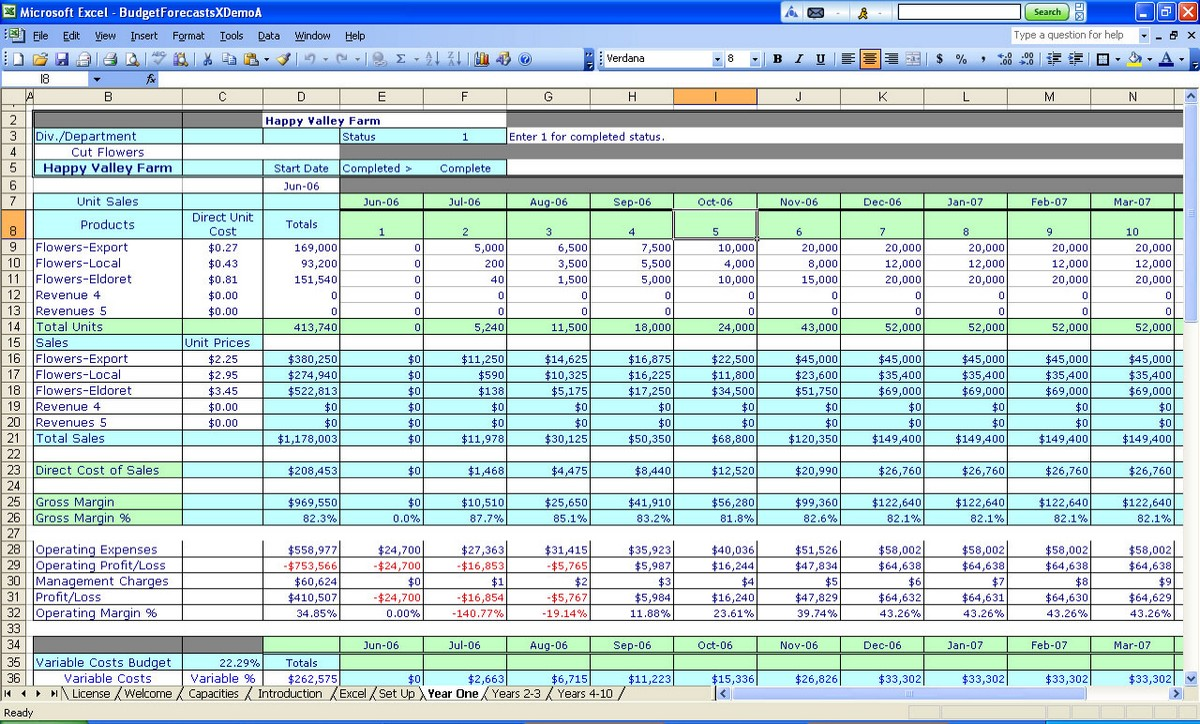 spreadsheet software examples free templates