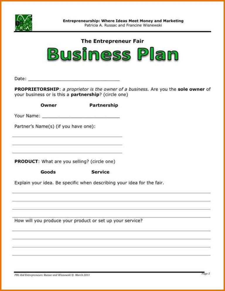 Startup Business Plan Template  LaobingkaisuoCom