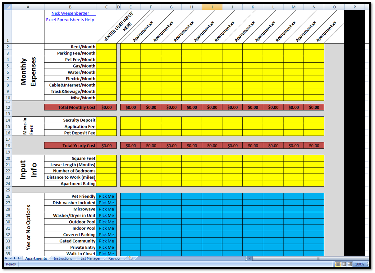 track rent payment spreadsheet template free download