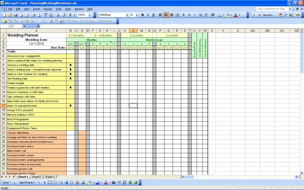 savvy wedding budget turquoise excel template screen view example ...