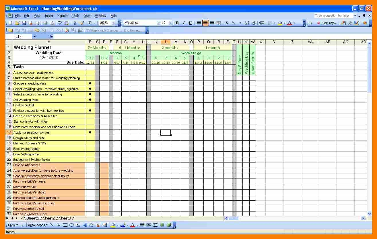 guest list excel