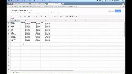what does the average function do in a spreadsheet